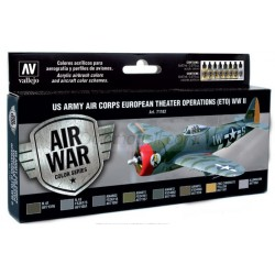 Model Air US Army Air Corps Colors (ETO) WWII. 8 Colores. Bote 17 ml. Marca Vallejo. Ref: 71182.