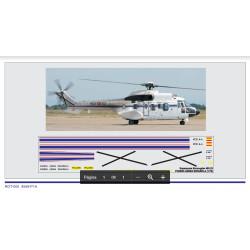 Calcas del helicóptero Superpuma Eurocopter 402-23, Fuerza Aérea Española. Escala 1:72. Marca Trenmilitaria. Ref: 000_0010.