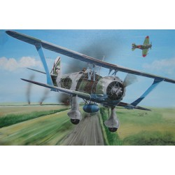 Caza Henschel Hs-123 A . Escala 1:72. Marca Fly. Ref: 72009.