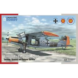 "Dornier Do 27 ""German, Spanish and Belgian Service"".  Escala 1:72. Marca Special Hobby. Ref: 72327."