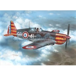 "Morane-Saulnier MS-406C.1 "" red & yellow stripes"". Escala 1:72. Marca Special Hobby. Ref: A114."