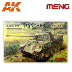 Tank Sd.kfz.171 panther ausf.a.late. Escala 1:35. Marca Meng. Ref: TS-035.