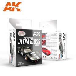 Set Acrílicos para vehículos Ultra gloss varnish. Marca Ak-Interactive. Ref: AK9040.