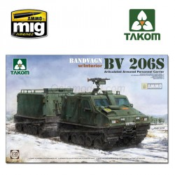 Bandvagn Bv 206S Articulated Armored Personnel Carrier. Escala 1:35. Marca Takom. Ref: 2083.
