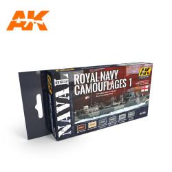 Set colores Royal Navy Camuflaje 1. Contiene 6 colores. Marca AK Interactive. Ref: AK5030.