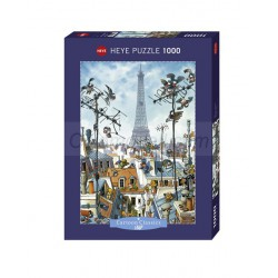 Eiffel tower, JeanJaques Loup. Puzzle vertical, 1000 pz. Marca Heye. Ref: 29358.