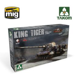 king tiger henschel turret abt. 505 c / zimmerit e interior. Escala 1:35. Marca Takom. Ref: 2047.