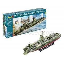 U.S.Navy Landing Ship Medium (LSM). Escala: 1:144. Marca: Revell. Ref: 05123.