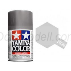 Spray silver leaf,  (85030). Bote 100 ml. Marca Tamiya. Ref: TS-30.