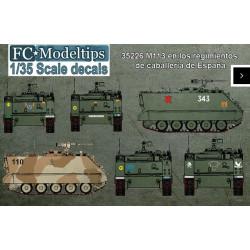 Calcas  M113 en los regimientos de caballería de España. Escala 1:35. Marca Fcmodeltips. Ref: 35226.