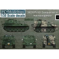 Calcas FV101 Scorpion en España. Escala 1:35. Marca Fcmodeltips. Ref: 35228.