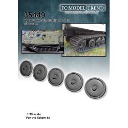 BV-206S ruedas de llanta lisa, 40 unidades. Escala 1:35. Marca FCmodeltrend. Ref: 35449.
