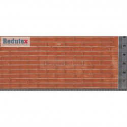 Ladrillo rojo, Ref: 012LD112, acabado natural. Marca Redutex.