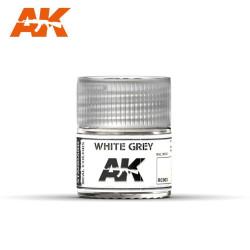Blanco agrisado. Cantidad 10 ml. Marca AK Interactive. Ref: RC003.