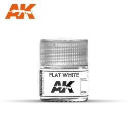 Blanco mate. Cantidad 10 ml. Marca AK Interactive. Ref: RC004.