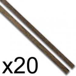 Chapa forro Manzania 0.5 x 5 x 1000 mm. Paquete de 20 unidades. Marca Constructo. Ref: 480168.