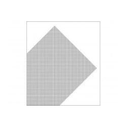 Plancha de Rejilla de PVC en diagonal, Gris. Dimensiones 185 x 290 mm, 0.32 mm . Marca Maquett. Ref: 611-02.