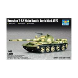 Russian T-62 Main Battle Tank Mod.1972. Escala 1:72. Marca Trumpeter. Ref: 07147.