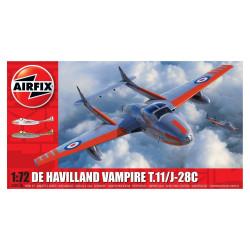 Set Caza De Havilland Vampire T11/J28C. Escala 1:72. Marca Airfix. Ref: A02058A.