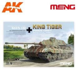 German heavy tank Sd.kfz.182 KING TIGER (Porsche turret). Escala 1:35. Marca Meng. Ref: TS-037.