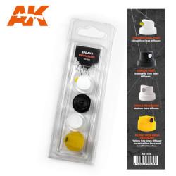 Spray Difussers Set 1. Marca AK Interactive. Ref: AK1028.
