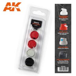 Spray Difussers Set 2. Marca AK Interactive. Ref: AK1029.