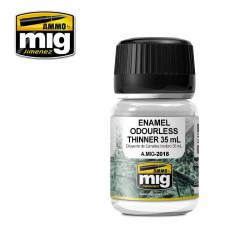 Enamel odourless thinner, Diluyente para esmalte inoloro. Bote 35 ml. Marca Ammo by Mig Jimenez. Ref: AMIG2018.