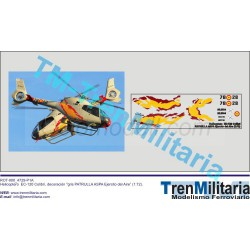 Calcas del helicóptero EC-120 Colibrí, Patrulla Aspa. Escala 1:72. Marca Trenmilitaria. Ref: 000_4729.