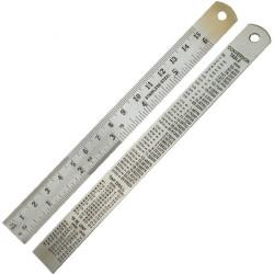 Regla de Precision Metalica (150 mm). Marca Dismoer. Ref: 20034.