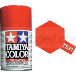 Spray Naranja luminoso brillante, bright orange (85031). Bote 100 ml. Marca Tamiya. Ref: TS-31.