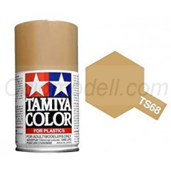 Spray Madera clara, wooden deck tan (85068). Bote 100 ml. Marca Tamiya. Ref: TS-68.
