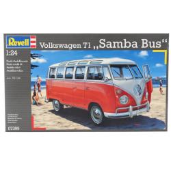 Wolkswagen Type 1 Samba bus, 1940.  Escala 1:24. Marca Revell. Ref: 07399.