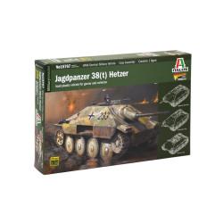 Tanque Jagdpanzer 38 ( t ) Hetzer. Escala 1:56. Marca Italeri. Ref: 15767.