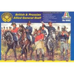 Figuras del Estado Mayor Britanico y Prusiano, 1815. Escala 1:72. Marca Italeri. Ref: 6065.