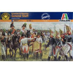 Figuras del Estado Mayor Ruso y Austriaco, 1812. Escala 1:72. Marca Italeri. Ref: 6037.