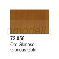 Acrilico Game Color, Oro glorioso. Bote 17 ml. Marca Vallejo. Ref: 72.056.