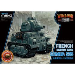 French medium tank, Somau S35. Serie world war toons. Marca Meng. Ref: WWT-009.