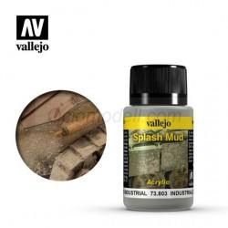 Weathering effects, Splash Mud (Barro industrial). Bote de 40 ml. Marca Vallejo. Ref: 73.803.