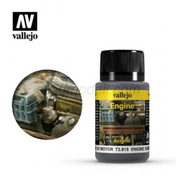 Weathering effects, Engine ( suciedad en motor ). Bote de 40 ml. Marca Vallejo. Ref: 73.815.