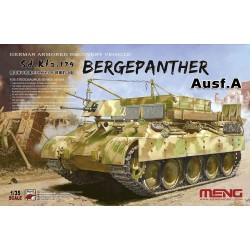 German Armored Recovery Vehicle Sd.Kfz.179 Bergepanther Ausf.A. Escala 1:35. Marca Meng. Ref: SS-015.