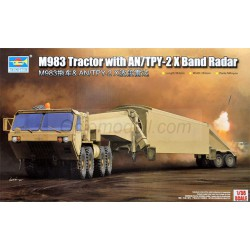 M983 Tractor with AN/TPY-2 X Band Radar. Escala 1:35. Marca Trumpeter. Ref: 01059.