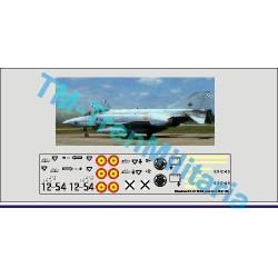 """Calcas del Phantom II F-4C 12-54, decoración """"plata ALA 12"""". Escala 1:48. Marca Trenmilitaria. Ref: 000_4776."""