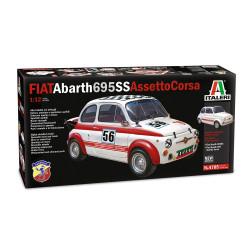 Fiat abarth 695 SS (assetto corsa). Escala 1:12. Marca Italeri. Ref: 4705.