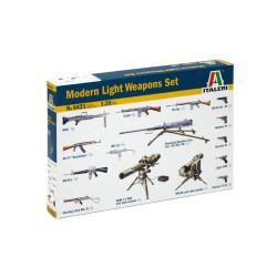 Set Modern light Weapon, Armamento ligero de Wapon moderno. Escala 1:35. Marca Italeri. Ref: 6421.