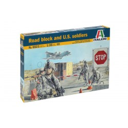 Bloque de carretera y soldados US. Escala 1:35. Marca Italeri. Ref: 6521.