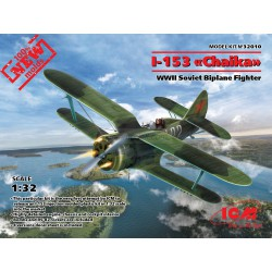 "I-153, WWII Soviet fighter ""chaika"". Escala 1:32. Marca ICM. Ref: 32010."