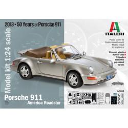 Coche Porsche 911, carrera America Roadster. Escala 1:24. Marca Italeri. Ref: 3680.