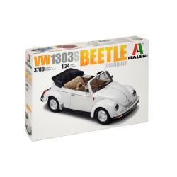 Coche VW 1303S Beetle Cabriolet. Escala 1:24. Marca Italeri. Ref: 3709.