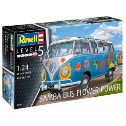 VW T1 Samba Bus Flower Power. Escala 1:24. Marca Revell. Ref: 07050.