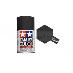 Spray glossy Black, negro brillante (85014). Bote 100 ml. Marca Tamiya. Ref: TS-14.